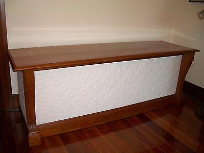Vintage timber & pressed metal Shop Cafe Counter or Kitchen Island Bench