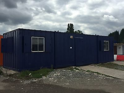 32ft Anti Vandal Portable Cabin Site Office Welfare Unit with Kitchen Area