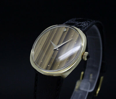 LIMITED OFFER! New Old Stock THERMIDOR PARIS tiger's eye color vintage watch NOS