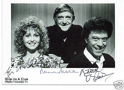 Michael Parkinson Lionel Blair Lisa Goddard Give us a clue Hand Signed Photo 6x4