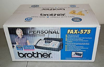 """Brand New!! Sealed!! Vtg BROTHER #FAX-575 Personal """"Fax Phone and Copier"""" NOS!!"""