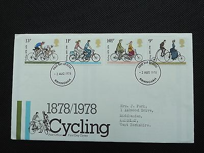 1978 Cycling First day Cover