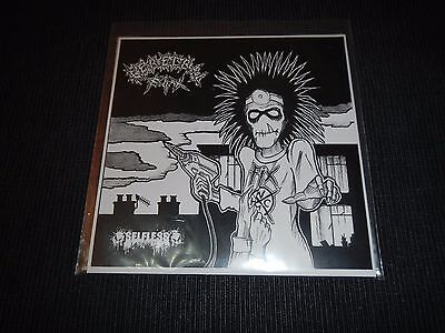 """7"""" green vinyl - Cerebral Fix & Selfless  - Fear Me! Music Aaaggghhh 005 2015"""
