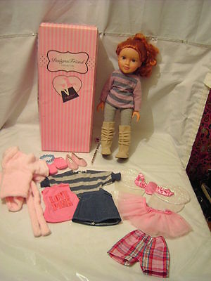 Chad Valley Design A  Friend Doll with Box and Clothes and Shoes