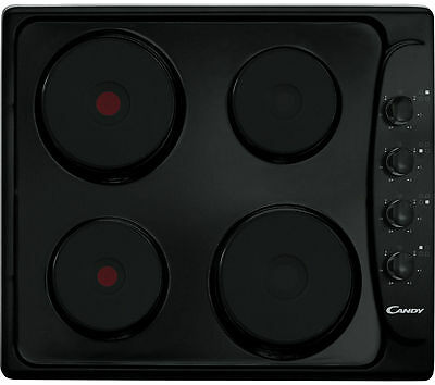 CANDY PLE64N Electric Solid Plate Hob - Black