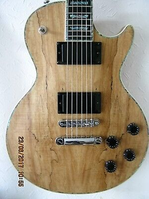 Wolf Spalted Maple Les Paul Electric Guitar