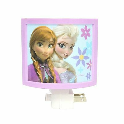 NEW plastic DISNEY plug-in FROZEN on/off switch NIGHT LIGHT anna ELSA bulb