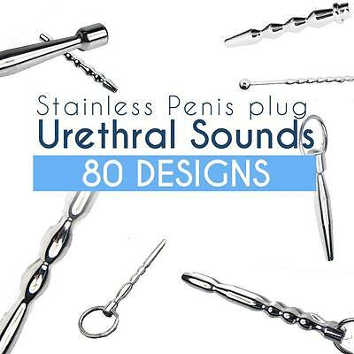 80 Designs Luxury High Quality Stainless Ring Urethral Sounds Plug Dilator WAND