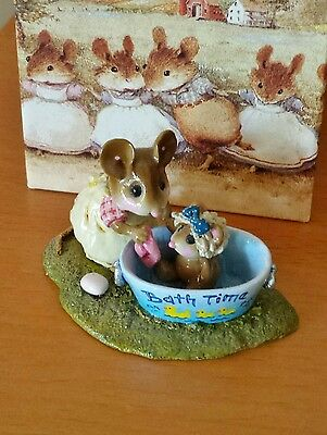 "Wee Forest Folk M-301 ""Rub-a-dub Dolly"" ""Bath Time"" Mint"