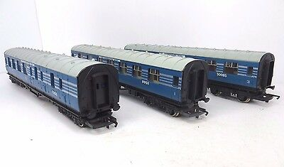 Hornby R422/r423 Oo Gauge 3X Coronation Scot Coaches Re-Numbered