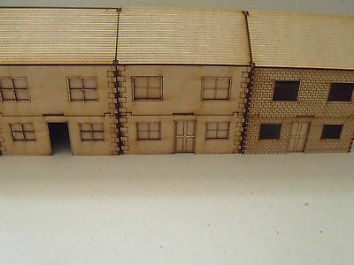 Two Storey houses (pack of 4) 28mm scale  - Wood scenery terrain bolt action WW2