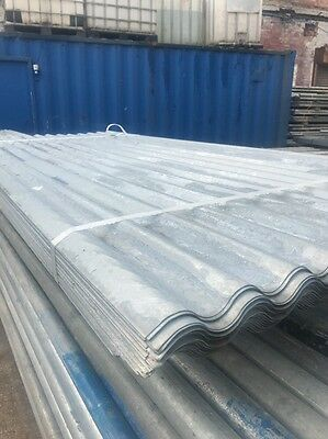 8ft / 2.4m Galvanised Metal Corrugated Roofing Sheet Cladding 1m Cover