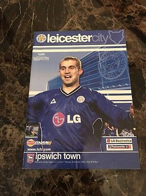 Leicester City vs Ipswich Town 26/12/2002 Division One Official Programme
