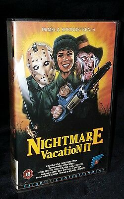 NIGHTMARE VACATION 2 VHS Rental Video Big box horror Sleep away camp 2 slasher