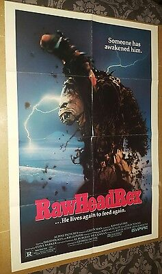Rawhead Rex US one sheet poster Monster Movie Demon Horror Clive Barker Raw Head