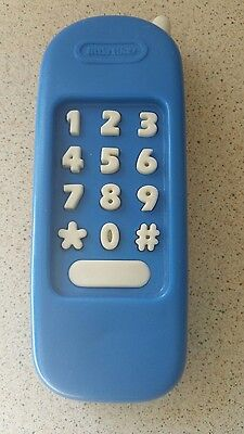 Used Genuine Little Tikes BLUE Replacement Spare TELEPHONE Playhouse Kitchen VGC