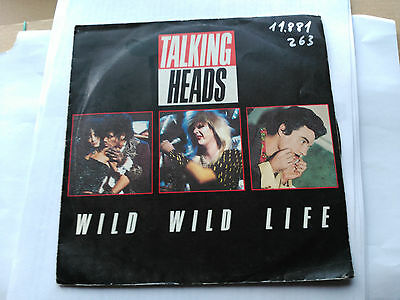 Single Promo Talking Heads - Wild Wild Life - Emi Spain 1986