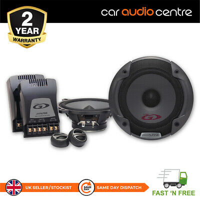 "ALPINE SPG-13CS 5.25"" 13cm Car Audio Component 2 Way Speakers Set 250W Tweeters"