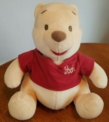 "Disney Baby 9"" The First Years Plush Musical Brahms Lullaby Pooh Crib Toy 2002"