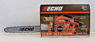 "Nib Echo Cs-400 18"" 40.2Cc Gas Chainsaw & Engine Oil"