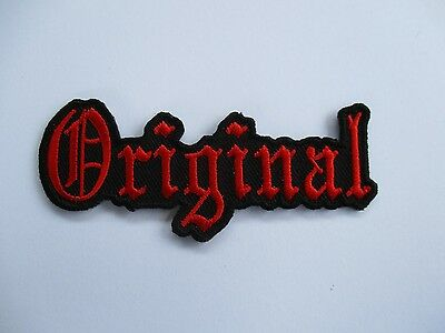 Original Red and Black embroidered Patch Sew/Iron Rider biker Motorcycle vest