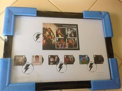 Bowie 2017 Framed Ltd Edition Royal Mail Stamps