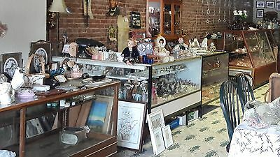 General Store 5'x5' L-shaped Metal and Glass Display Showcase