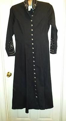 Western Style Cowgirl Dress , Concho Buttons Stud Embellishments Size Medium
