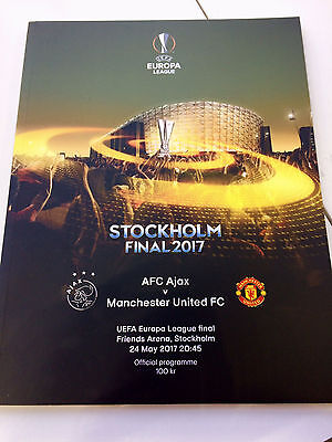 UEFA Europa League 2017 Final Match Programme - Ajax v Manchester United