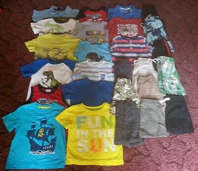Great deal! 26pc boys 24mos/2t summer lot.. Crazy 8, Jumping Beans,  Old Navy