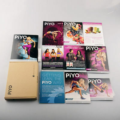 New Piyo Workouts Deluxe Full Set 5Dvd Free Shipping Band New