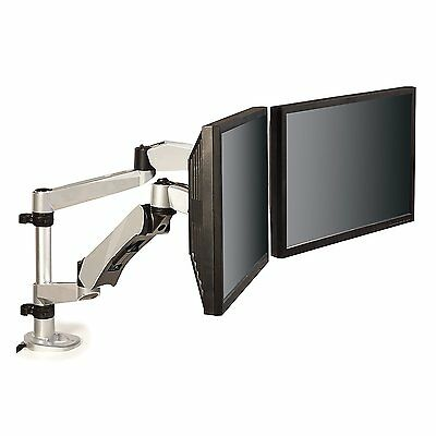3M Ergonomic Adjustable Dual Monitor Arm, (MA265S)