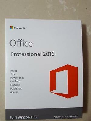 Microsoft Office 2016 Professional Plus Pro 32/64Bit Full Version Only 1 PC