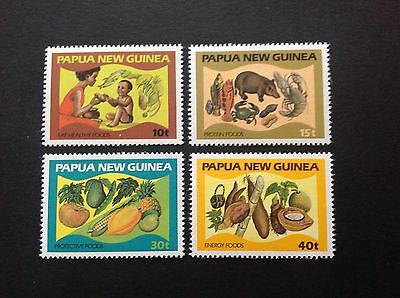 Papua New Guinea 1982 Food And Nuitrition Full Set Mnh