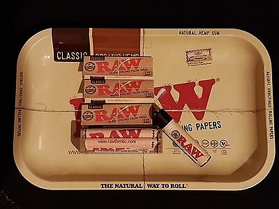 Raw Bundle 6Pk (Small Tray, Clipper Lighter, 79Mm Roller 3Pks Of Raw 1 1/4 Clsc