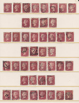 SG 43 penny red plate 171 full reconstruction of 240 stamps AA to TL