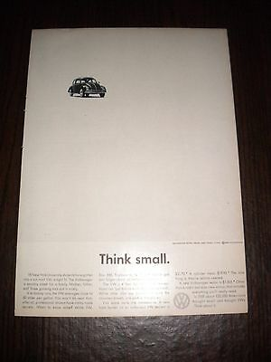 1960 Volkswagen Think Small Ad