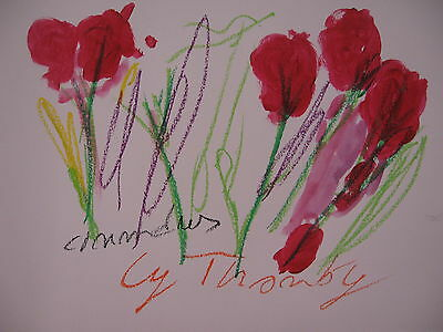 Cy Twombly Pastel Oil Acrylic  By Hand Signed