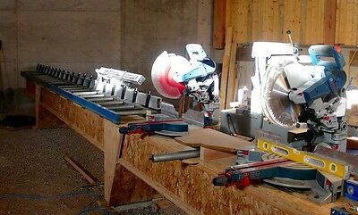 """Hain Company MEA Measuring System  2' to 22' (+- .010"""")  Cut to Length Saw Stop"""