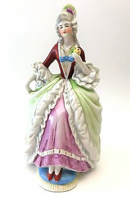Antique Marie Antoinette German Porcelain Figurine ~ Lady in Chair ~ Germany