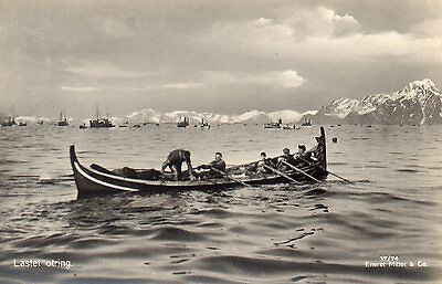 OLD MITTET POSTCARD CIRCA 1930's - NORWAY LOFOTEN ISLANDS - LASTET OTRING