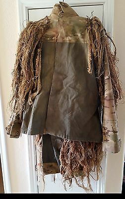 REAL Handmade Multicam Ghillie Suit!  Sniper USMC ARMY SOF Military SWAT CRYE