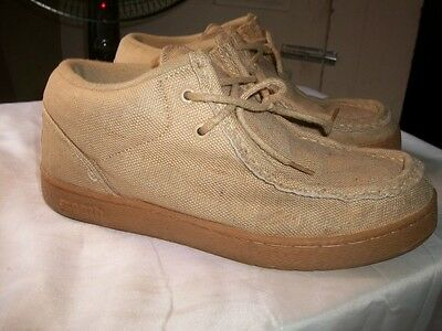 IPath Hipster Padded Skating Hemp Cat Style Mens 10. Eur 44 Biege Shoes CATS