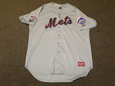 2015 2016 Binghamton Mets #50 Gray Game Worn Jersey 25th SK Patch NY Mets