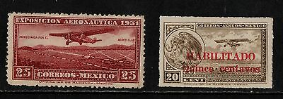 1931 Mexico Air Stamp(Lmm) S.g.506,516