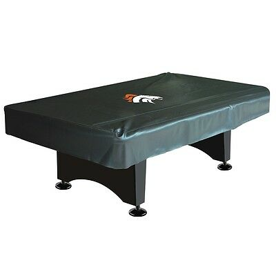 NFL Denver Broncos 8 ft  Fitted Leatherette Pool Table Cover w/ FREE Shipping