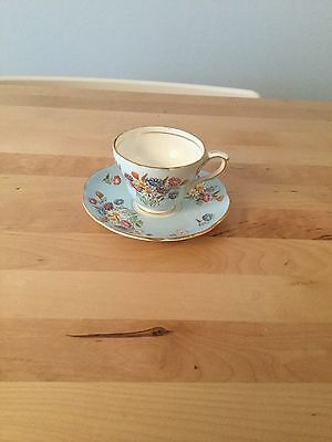 Vintage & Rare Foley China England Coffee Cup and Saucer - Multi Floral