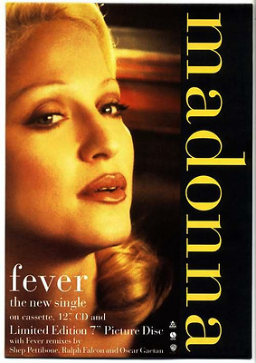 Madonna - Fever Single official 1993 UK promo in-store counter display stand