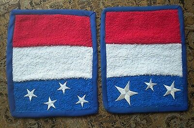 Red White Blue Patriotic Dish / Hand Soap Sink Mats Absorbent Terry Cloth July 4