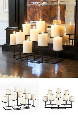 Metal Candelabra Candle Holder - Classic Style Dining Table Fireplace Home Decor